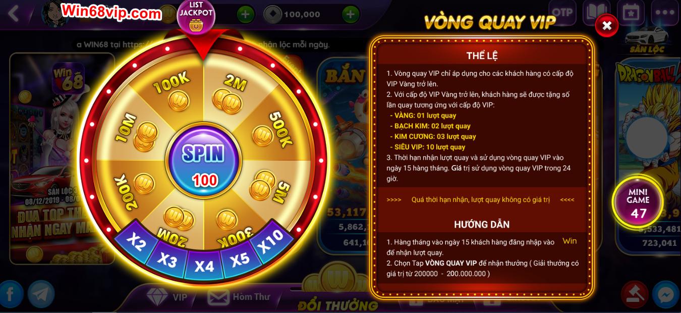Hình ảnh win 68 vip in Tặng code win68 mới nhất có Win miễn phí giá trị 50.000